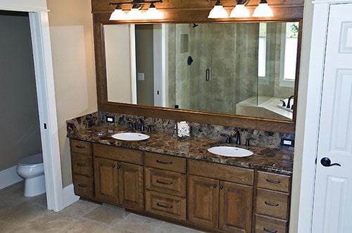 Custom cherry bathroom cabinets