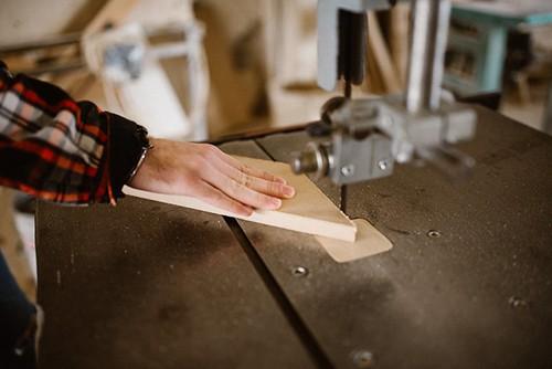Man using woodworking machine