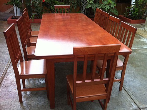 Cypress wood dining set