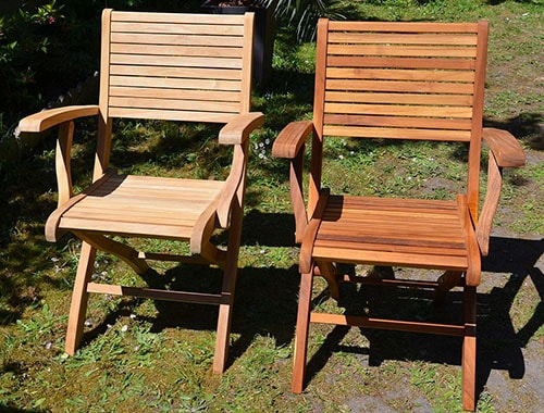 Teak outdoor chairs