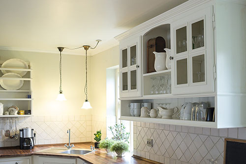 Classic wooden kitchen cabinet