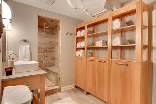 Plywood bathroom cabinets