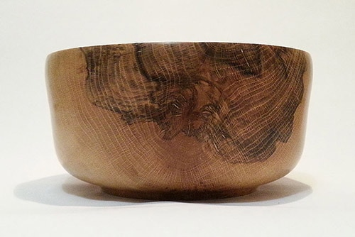 Spalted oak bowl