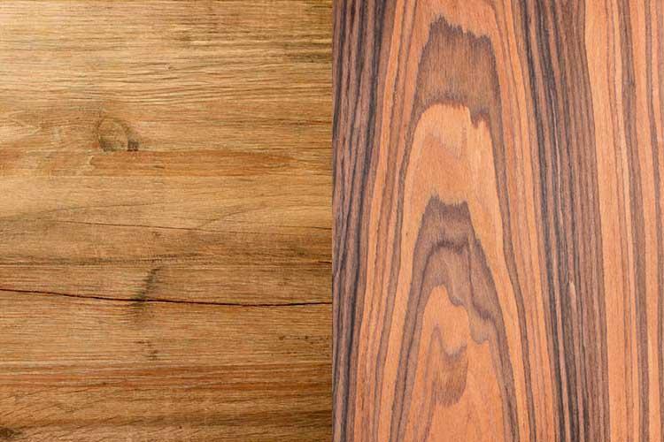 Texture of natural mango wood plank