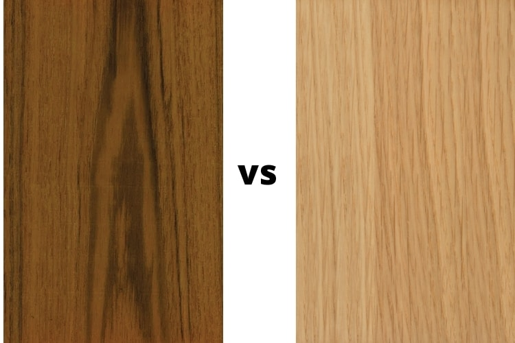 Teak Wood Vs Oak Comparing, Oak Vs Maple Furniture