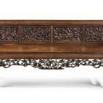 Chinese rosewood upholstered sofa couch