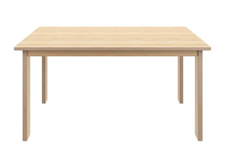Table made of plywood