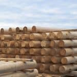 cylindrical logs for log home stack