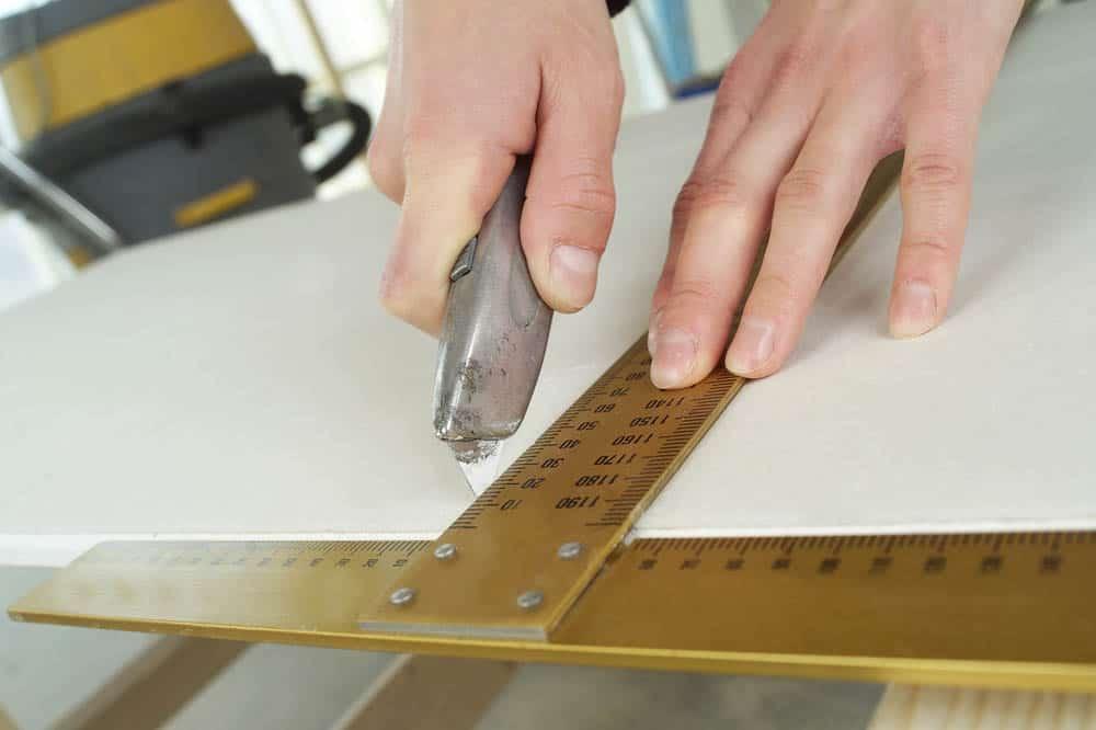Close up of a carpenters work