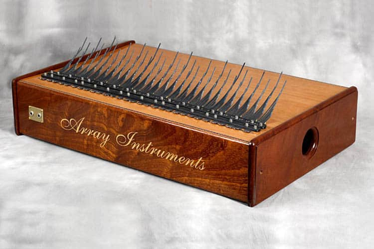 A five-octave Array mbira made of sapele wood