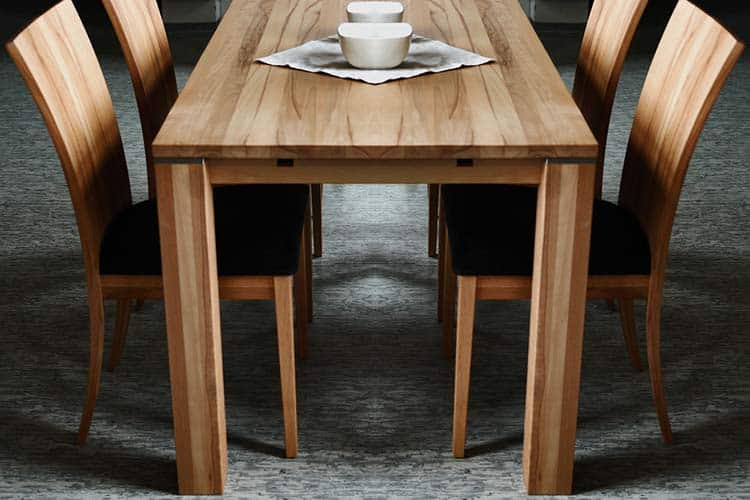 beech wood dining table set