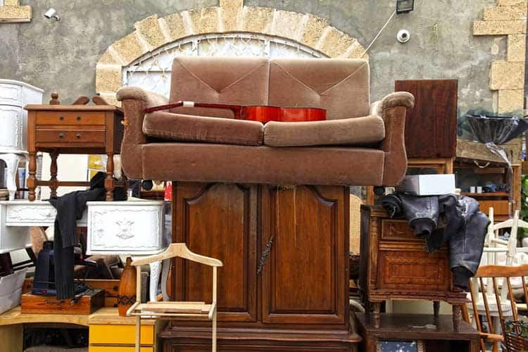 Old furniture and other staff at Jaffa flea market, Tel Aviv