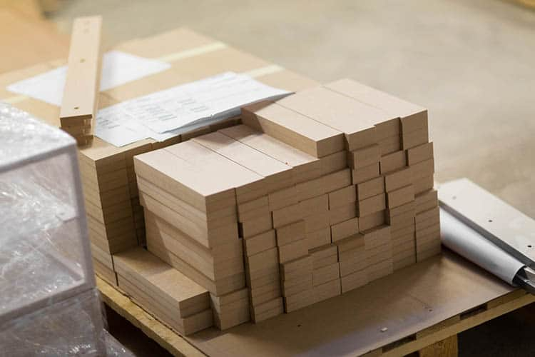 medium density fibreboards at woodworking plant