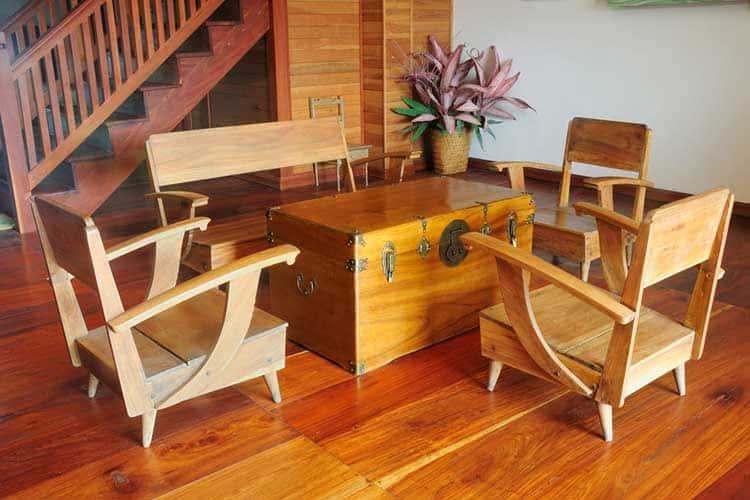 a vintage teak wood furniture